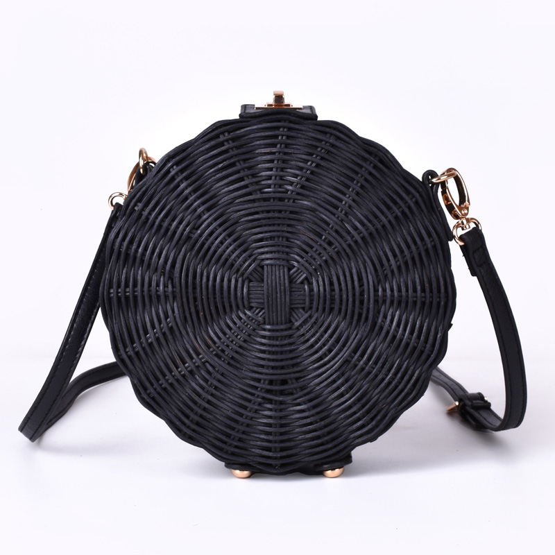 New Women Straw Bag Bohemian Bali Round Straw Rattan Bag Wicker Circle Beach Handbag Handmade Kintted Shoulder Bags bolso bambu 2018 women hand woven round rattan straw bag ins bali bag bohemian beach circle bag circular handbag shoulder