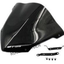MT09 MT 09 ФЗ 09 для Yamaha FZ09- 14 16 ветровое стекло двойной бабб Обтекатели воздуха хорошее качество черный
