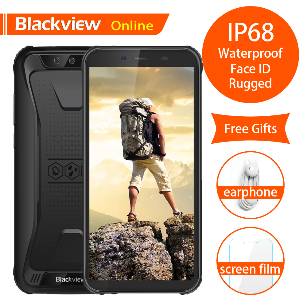 Blackview BV5500 Original IP68 Waterproof Rugged Mobile Phone 2GB 16GB 18 9 4400mAh Android 8 1