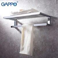 GAPPO Полотенца бары держатель оборудование для ванной, аксессуары латунь вешалка для полотенец Настенный Ванной Полотенца вешалка держател
