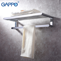 GAPPO Towel Bars holder bath hardware accessories brass towel rack wall mounted bathroom towel holder hanger