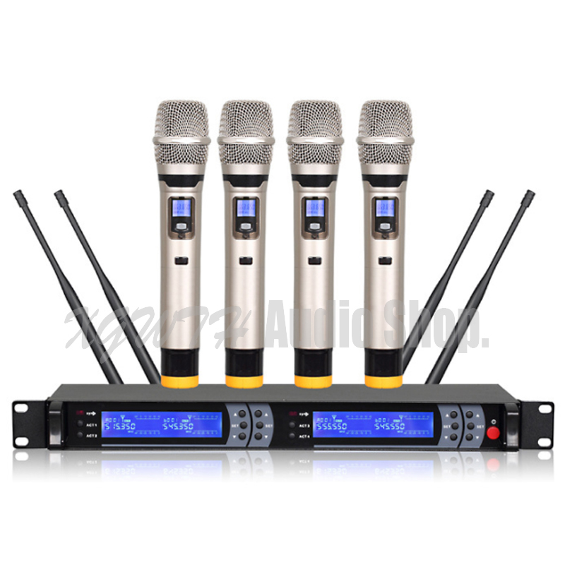 wireless microphone system uhf handheld bodypack transmitter wireless microphone lapel music