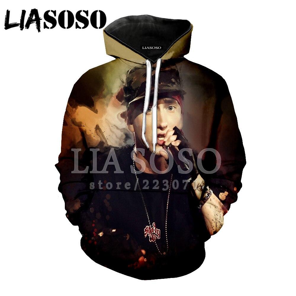 LIASOSO Eminem hoodie Music Rap God Men Women hoodie 3D Print Rapper Men hoodies Fashion DJ Male & Famale EM23
