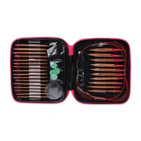 13Pairs In 13Sizes Detachable Circular Needles Set Multi Color Knitwear DIY Tools with Zipper Storage Case