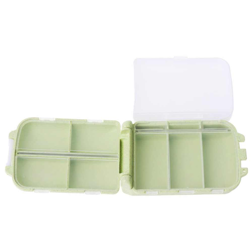 ZLROWR 旅行薬物ピルボックス折りたたみビタミン医学オーガナイザー容器 8 コンパートメント