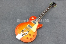 Manufacturers one of the best tiger stripes duplex bigsby Lp electric font b guitar b font