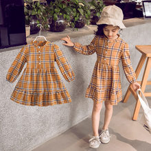 Get more info on the 2019 Hot Sell Long Sleeve Cotton Girls Autumn Dress Clothes for Children 9 Years Palid Dresses for Girls Kids Age 13 - 4 Years
