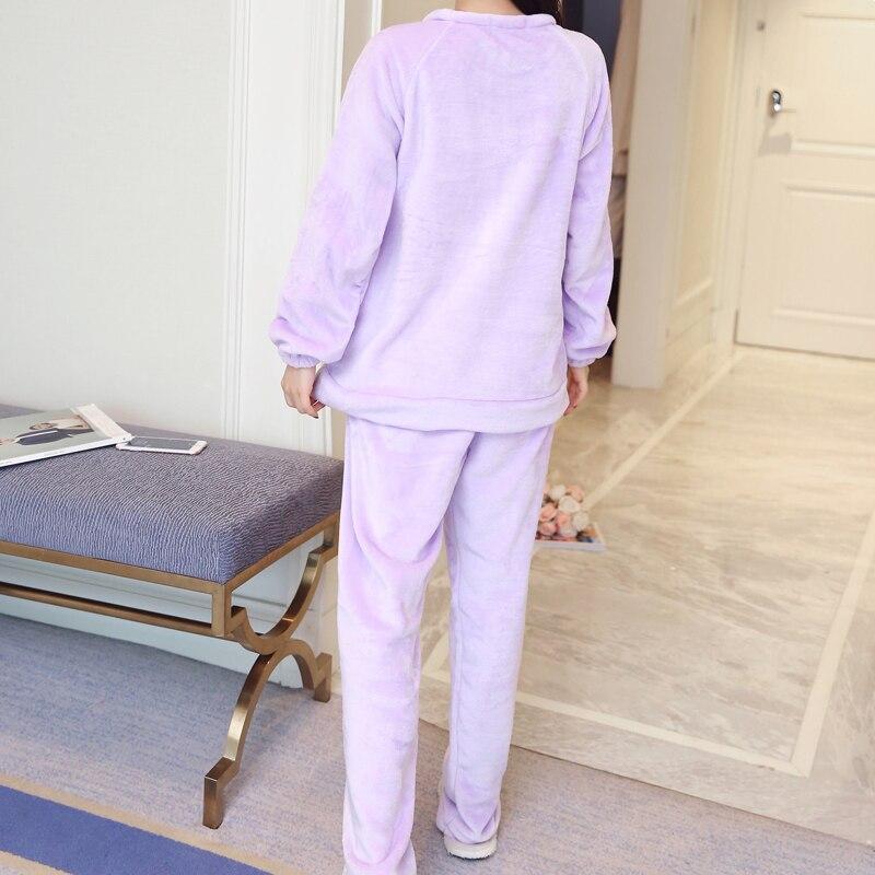 9ece2f046 ZIXUANER Camisones Pijamas para mujeres Embarazadas Lactancia de Enfermería  de Maternidad de Invierno ropa de Dormir de Algodón Loungewear Ropa Fijada  en de ...