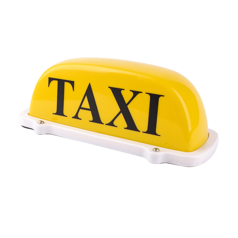 1 Pcs Roof Top Cab LED TAXI Sign Light 12V Magnetic Base Lamp With Cigarette Lighter 3M Cable Waterproof Yellow Lamp 45smd led white blue green red yellow car auto cab sign top light vehicles windscreen white led lamp dc 12v taxi light