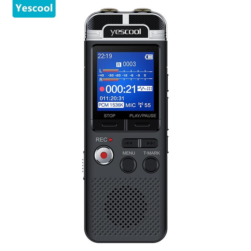 A90 Professional Dictaphone voice activated mini digital voice recorder pen 8GB PCM recording Dual mic denoise HIFI MP3 player