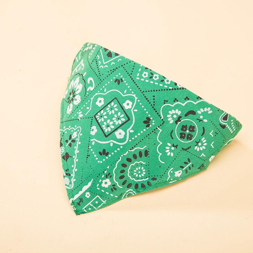 Hipidog Supplies Pets Dogs Cotton Adjustable Neck Collar Triangular Bandana Saliva Towel Scarf Bibs Neckerchief for Dog Cat Pet