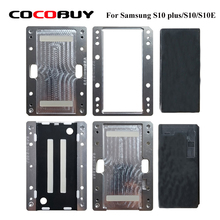 YMJ laminating Alignment mould For Samsung Galaxy edge S10 S10 plus LCD OCA Polarizer Film Laminating Mold Mobile phone repair 2pcs high precision metal mold mould for samsung s6 edge s7 edge lcd screen laminating and location