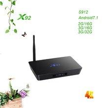 X92 2GB+16GB/3GB+32GB Android 7.1 Smart TV Box Amlogic S912 Octa Core 4K H.265 Set Top Box