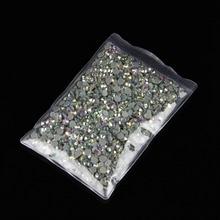 10 taschen/log SS20 AB farbe DMC Hot Fix Strass kristall hot fix stein Eisen Auf Strass garment nähen steine