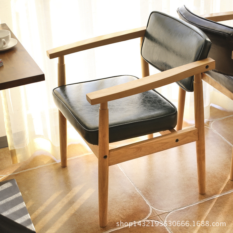 цены  Scandinavian simple wood mahjong chair new Chinese dining chair tables and chairs coffee shop hotel chair Home Furniture
