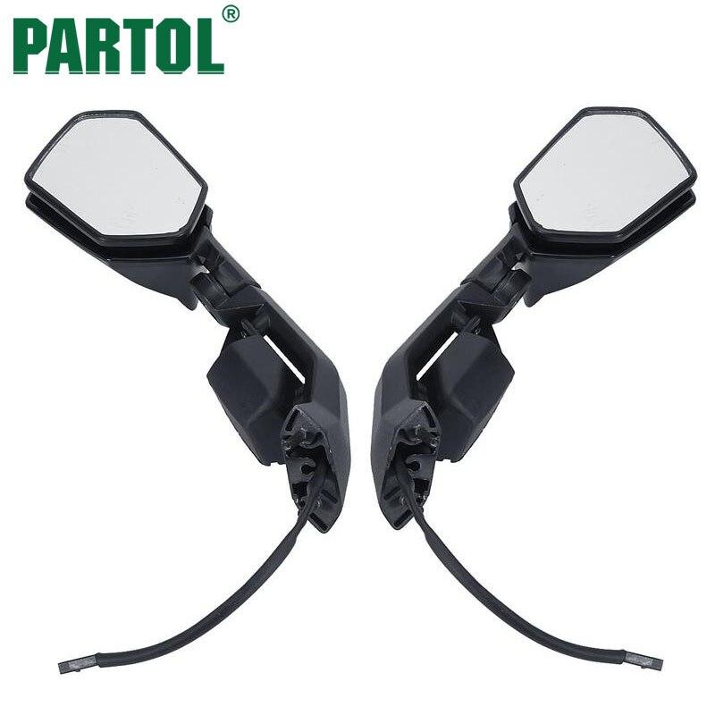 Техники 2шт/комплект Ручная складка мотоциклах зеркало заднего вида с сигнала поворота Боковые зеркала для Кавасаки ниндзя запросу zx6r ZX10R