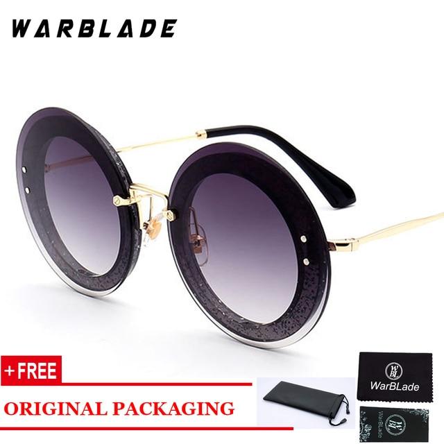 6d8fb8d3084 2018 Cool Brand Designer Oversize Sunglasses Women Round Leopard gradient lens  big circle clear glasses UV400 Eyewear rimless