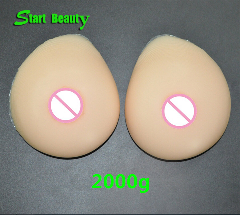 Buy 2000g/pair F cup Top quality Bodycolor Realistic fake silicone breast forms Boobs Tits Nipple cosplay Shemale crossdressing