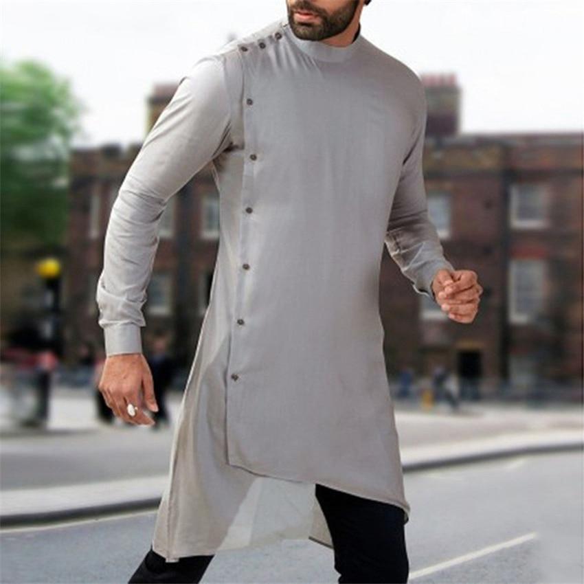 Abaya 2020 News Autumn Men Arabic Muslim Dress Kaftan Saudi Arabia Islamic Clothing Men Pakistan Ethnic Thobe Middle East Jubah