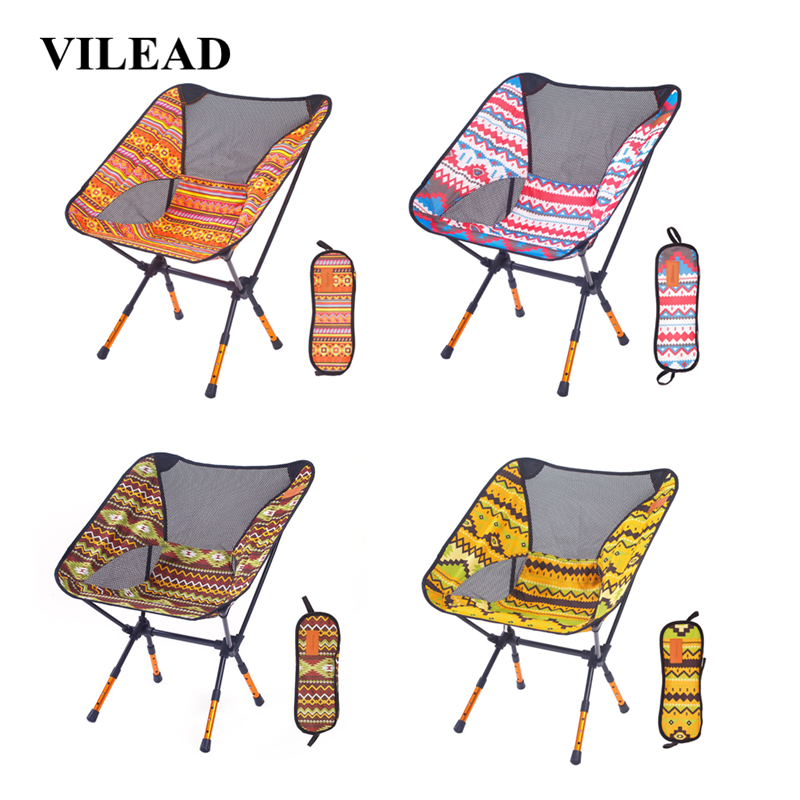 Image 5 - VILEAD 4 Colors  Adjustable Camping Chair Portable 7075 Aluminum Folding Ultralight Picnic Fishing Outdoor Beach bearing 150 kg-in Camping Chair from Sports & Entertainment
