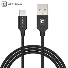 CAFELE Original Type C USB Cable for Huawei Honor 9 Xiaomi MI5S Mi6 One Plus 3t 5 Single Port Charging Data Type-C USB Cable(China)