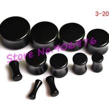 Черный акриловый туннель для ушей, конические растяжки для уха 3-20 мм, пирсинг для ногтей, разноцветный пирсинг для тела, 110 шт./партия