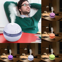 New Fashion 100 100 85mm Air Aroma Essential Oil Diffuser LED Ultrasonic Aroma Aromatherapy Humidifier Home