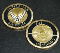 United States Challenge Coin F 35 Lightning II Air Force Challenge Coin 20pcs Lot Free Shipping