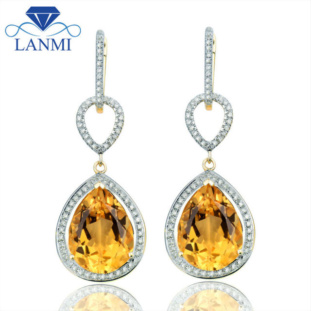 bee img with citrine earrings