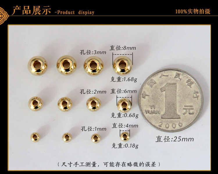 20 sztuk 24 K Champagne złoty kolor galwanicznie mosiądz miedź przekładka koła koraliki koraliki na bransoletkę wysokiej jakości Diy biżuteria akcesoria