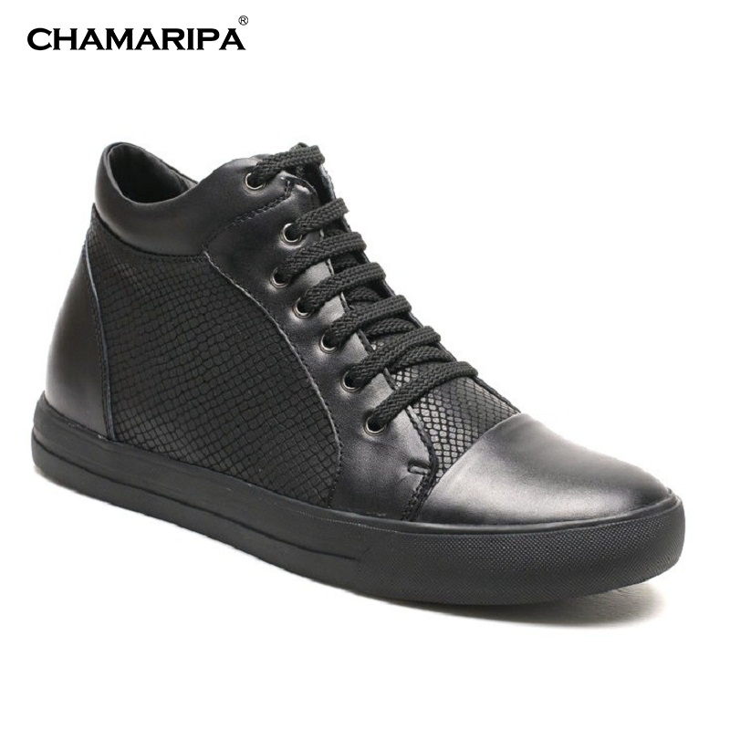 CHAMARIPA Increase Height  6cm/2.36 inch Taller High Top Height Increasing Sneaker Casual Leather Elevator Shoes  028-B08K031D-1 new arrival 2015 casual men calf leather shoes handmade high top leather elevator shoes internal height increase shoe 6 5cm