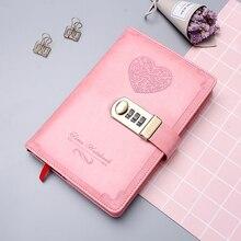 Dagboek B6 Wachtwoord Boek Met Slot Retro Notebook Reizen School Meisjes Gift Notebook Journal Business Planner