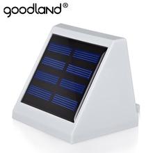 Goodland LED Solar Light Waterproof IP65 LED Garden Solar Light Saving Energy Wall Solar Lamp For Garden Outdoor Lighting