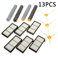 Tangle Free Debris Extractor Set Side Brushes Hepa Filters Replacement Kit For IRobot Roomba 800 870