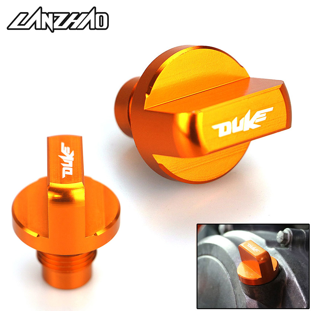 Orange Motorcycle Engine Magnetic Oil Drain Plug CNC Aluminum for <font><b>KTM</b></font> <font><b>DUKE</b></font> <font><b>390</b></font> 2013-2018, <font><b>DUKE</b></font> 125/200, <font><b>Duke</b></font> 250 <font><b>2017</b></font> 2018 image