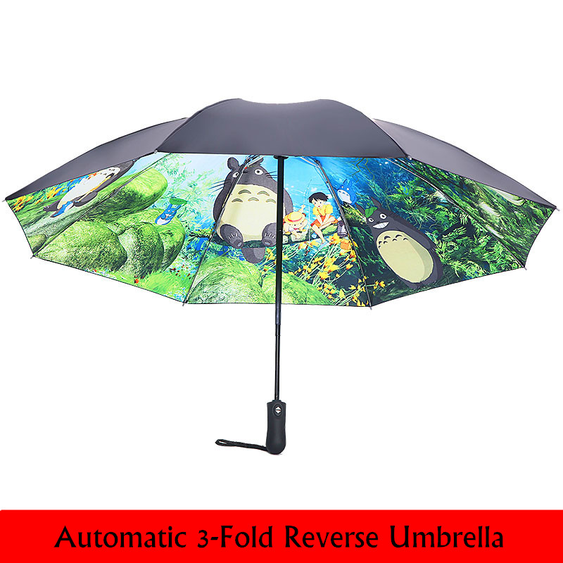 Double Layer Inverted Inverted Umbrella Is Light And Sturdy Beautiful Sweet Mood Summer Wild Forest Reverse Umbrella And Windproof Umbrella Edge Nigh