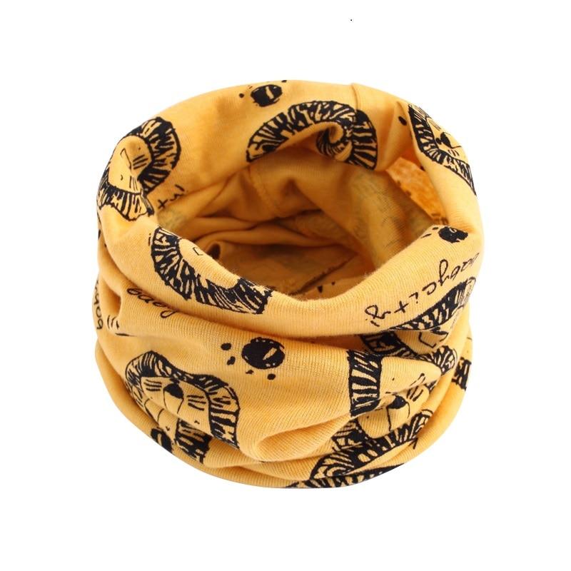 Детский хлопковый шейный шарф с милым принтом; детский теплый шарф; Детские воротники; осенне-зимний шарф-кольцо для мальчиков и девочек; аксессуары для детской одежды - Цвет: wb200