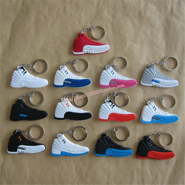 100pcs/lot HOT Air Jordan Keychain/3D Jordan keychain/Jordan pvc shoes keychain