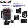 M20 Original SJCAM Wifi Gyro Mini Ação Esporte Câmera 4 K 24fps NTK96660 16MP 30 M À Prova D' Água DV Com RAW formato