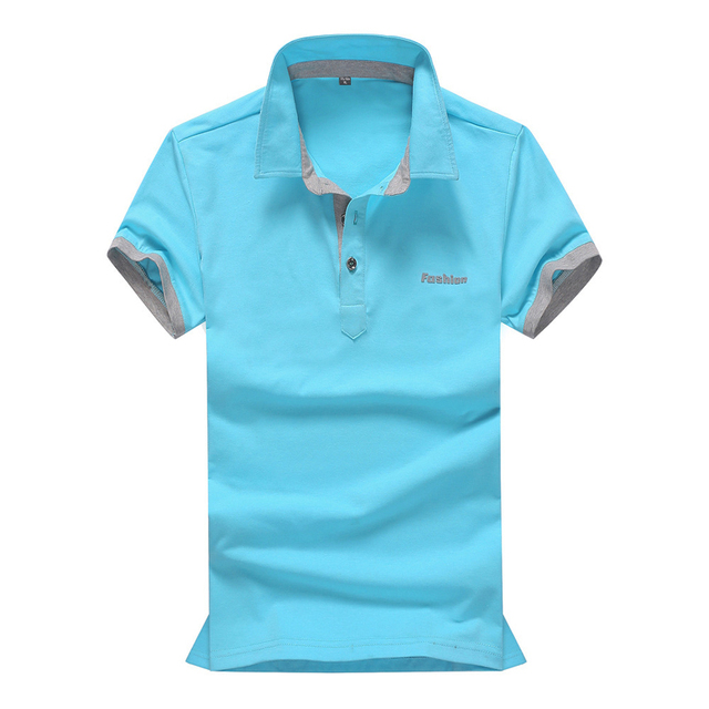 2016 Summer New Casual Solid Polo Shirt Cotton Fabric Breathable Camisa Polos