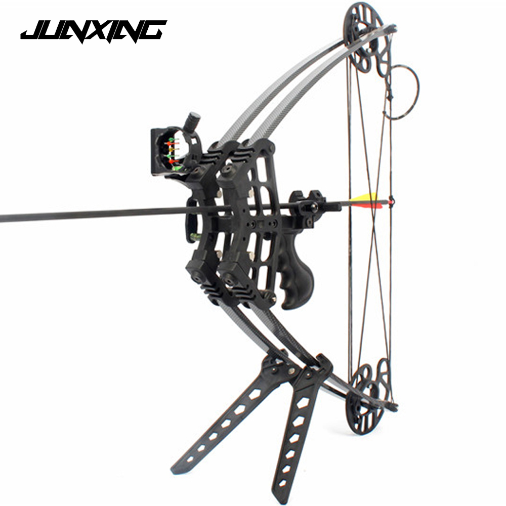 цена на 50 LBS M109 Triangle Hunting Compound Bow for Left Hand And Right Hand Archery Speed 270 feet/s Black/Camo Compound Bow