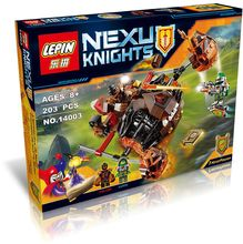 2016 New LEPIN 14003 203Pcs Nexu Knights Moltor's Lava Smasher Model Building Kits Minifigure Blocks Brick Toy