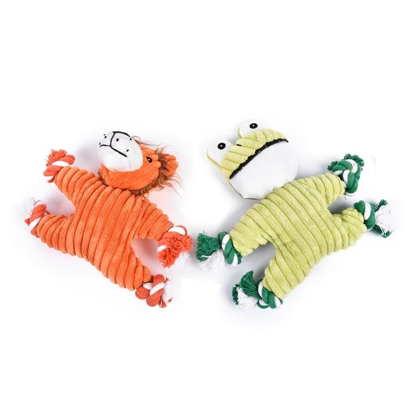 Rana divertida Juguetes Para Mascotas Lindo Leo Masticar Juguetes de Cuerda de N