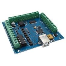 Placa de gravação usb mach3 cnc, máquina de gravação 4 eixos 100khz, controlador de movimento de passo, placa de driver