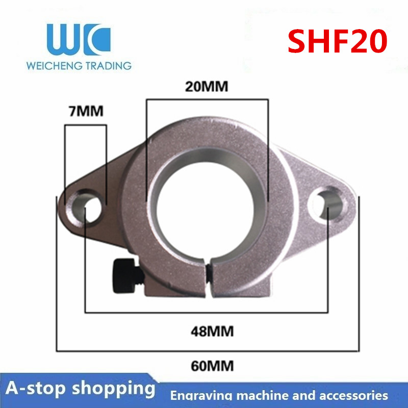 SHF20 Linear Optical Axis Guide Holder Light Bar Horizontal Diamond Support Bracket Bearing Lock Seat SHF8-50