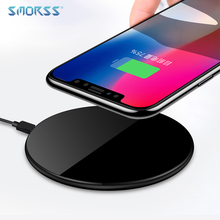 SMORSS New Qi Wireless Fast Charger 5V Ultra-light Wireless Charging Pad Support Phones with Wireless Charging Function