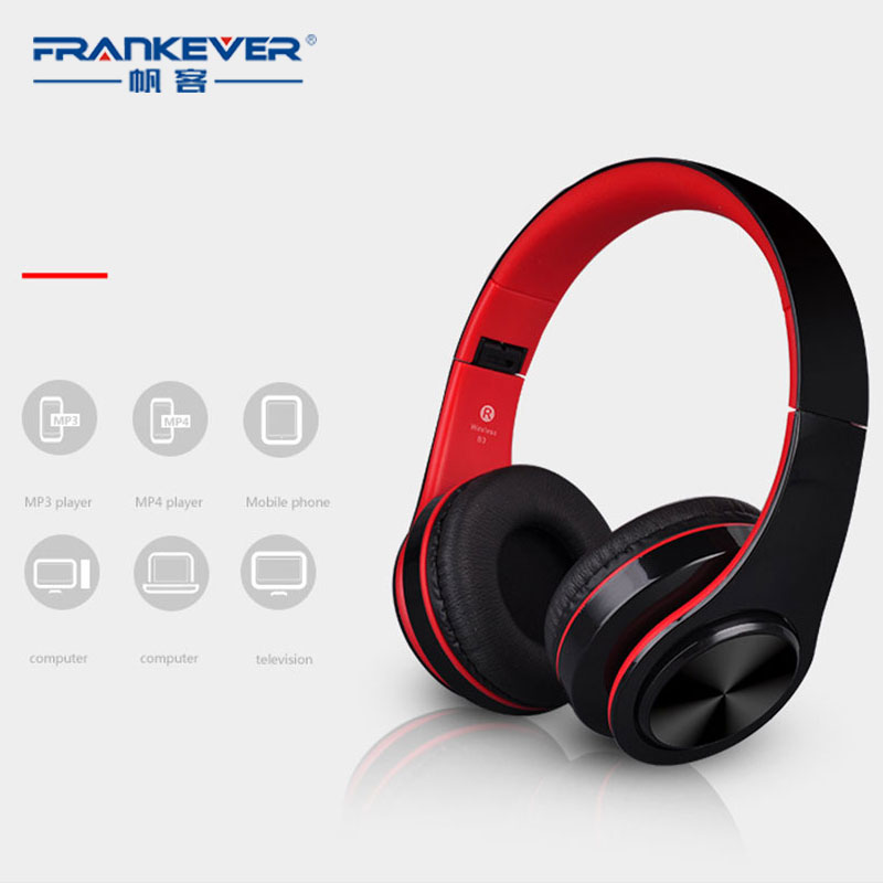 FrankEver Sports Headphones High Quality Stereo Headphone Supports Bluetooth Wireless Headset Foldable Professional Game headset foldable on ear wireless stereo bluetooth headphones headset supports fm