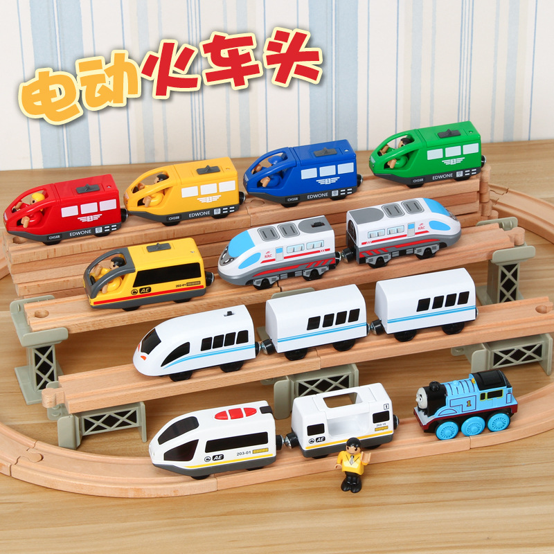 Electric Train Locomotive Magnetic Connector Battery Operated Toy Trains Compatible With Brio Trains Gift Boys Children's Toys