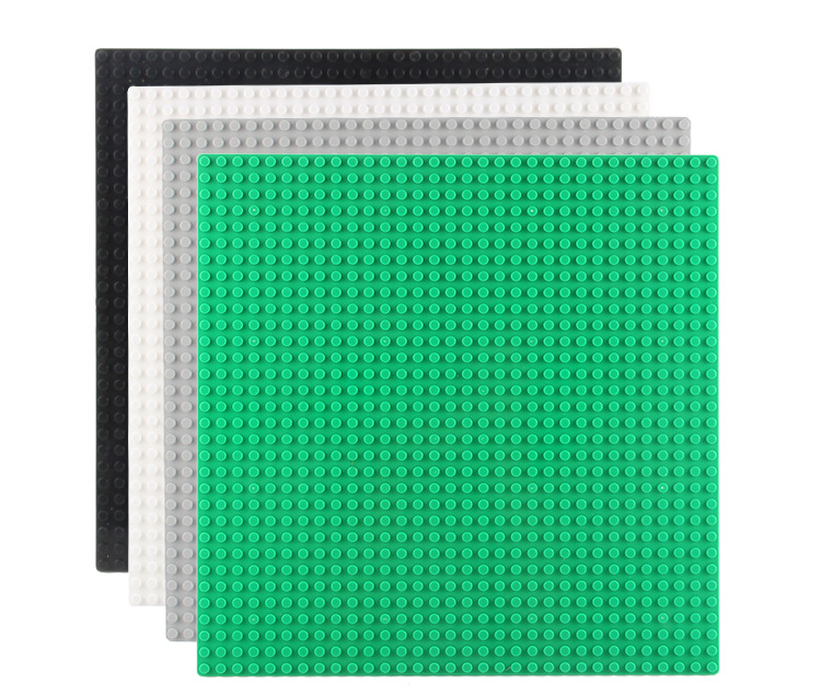 4 colors small dot baseplate 24*24 dots 19*19c'm for DIY base plate MOC Building Block Loose Brick, Brick figure new big size 40 40cm blocks diy baseplate 50 50 dots diy small bricks building blocks base plate green grey blue