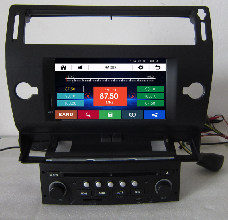 Free Shipping 8 inch Car DVD Player GPS Navigation for Citroen C4 2004 2005 2006 2007 2008 2009 2010 2011 with RDS AM FM USB